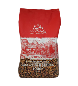 Кава зернова «Кава зі Львова» Еспрессо 1 уп/1 кг. (01309)