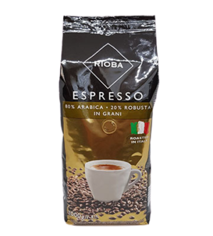 Кава зернова «RIOBA» Espresso 80% Arabica/20% Robusta 1 уп/1 кг (01355)