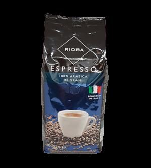 Кава зернова «RIOBA» Espresso 100% Arabica 1 уп/1 кг (01356)