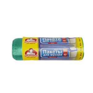 Пакети для сміття «Помічниця» 60 л 1 уп/40 шт. (01237)